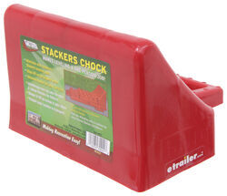 Wheel Chock for Stackers Leveling Blocks - Polyethylene - Qty 1