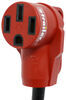 """Mighty Cord Dog Bone RV Power Cord Adapter - 50 Amp Female to 15 Amp Male - 12"""" - Red 15 Amp Male Plug A10-1550"""
