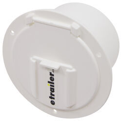 "Valterra Electrical Cable Hatch for RVs - 4-9/16"" Diameter - White"