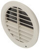 "Jetstream Fixed Vane A/C Ceiling Vent - Round - 5"" - Light Beige Ceiling Registers A10-3361VP"