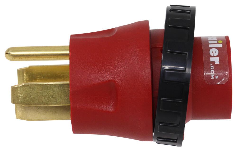 Mighty Cord RV Power Cord Adapter Plug - 50 Amp Male to 30 Amp Female - Detachable 30 Amp Female Plug A10-5030DAVP