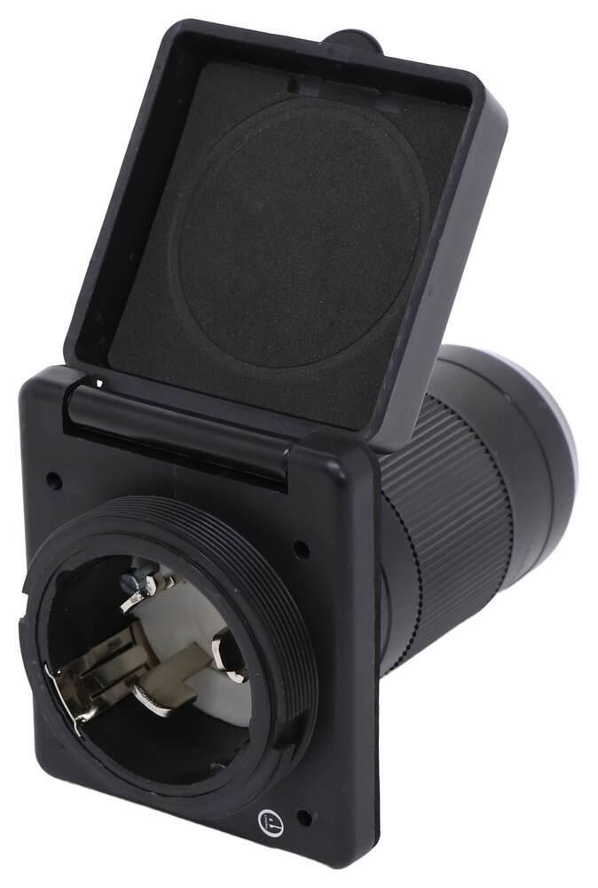 Mighty Cord Replacement RV Power Inlet - 50 Amp Twist Lock - Black Black A10-50INBKVP
