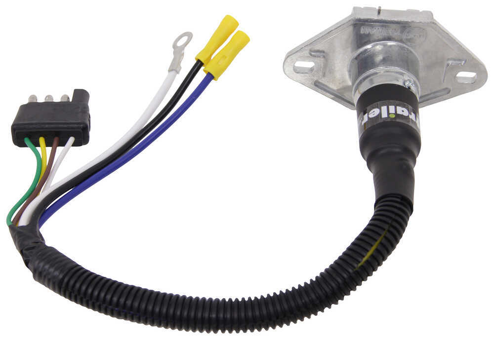 mighty cord trailer connector adapter - 4-way flat to 6 ... 6 way trailer wiring harness #2