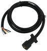 Mighty Cord 7-Way RV-Style Trailer Connector w/ Molded Cable - Trailer End - 6' Long Plug and Lead A10-7W6