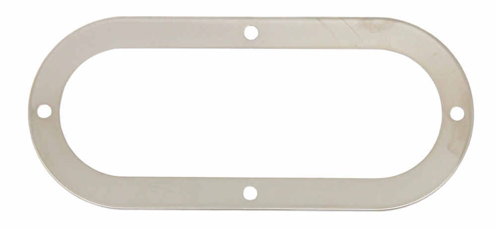 """Stainless Steel Trim Ring for Optronics 6"""" Trailer Lights - 7-5/8"""""""" L x 3-1/4"""" W Light Trim A111TRSSB"""
