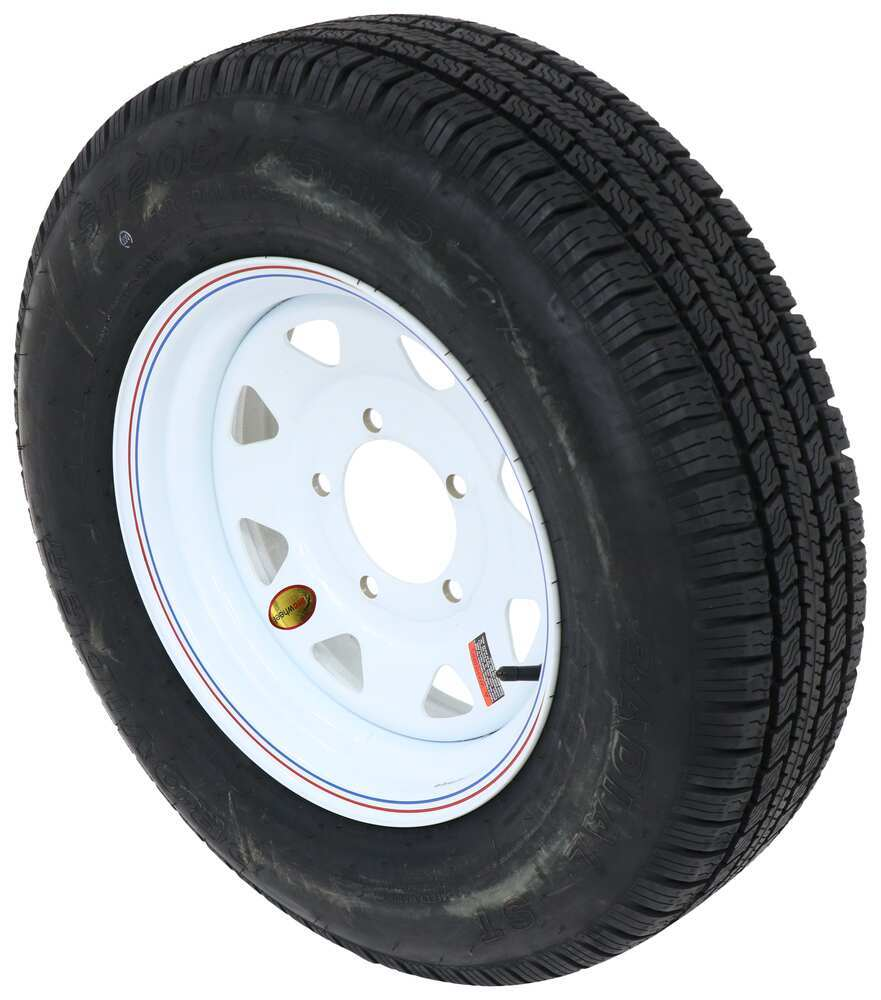 A15R655WS - 205/75-15 Taskmaster Tire with Wheel