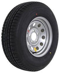 "Provider ST215/75R14 Radial Trailer Tire w/ 14"" Silver Mod Wheel - 5 on 4-1/2 - LR D"