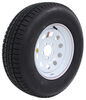 "Provider ST225/75R15 Radial Trailer Tire w/ 15"" White Mod Wheel - 5 on 4-1/2 - Load Range D Steel Wheels - Powder Coat A225R645WM"