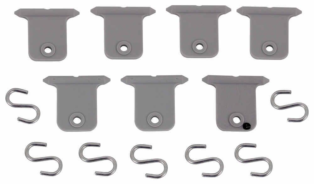 Valterra Hanger Tabs for RV Awnings - Polypropylene - Qty 7 - Gray Light Holders A77040