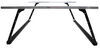 Adarac Custom Truck Bed Ladder Rack - Steel with Aluminum Crossbars - 500 lbs Fixed Height A70450