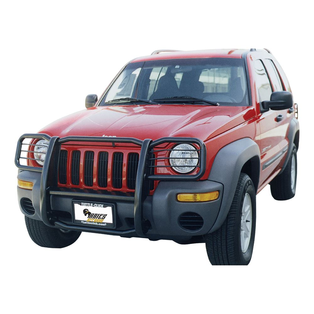 Jeep Brush Guard >> 2003 Jeep Liberty Aries Grille Guard - 1 Piece - Black Powder Coated Steel