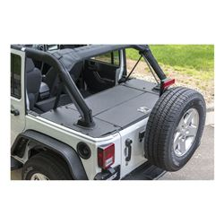 Aries Locking Cargo Lid for Jeep - Black Powder Coated Aluminum