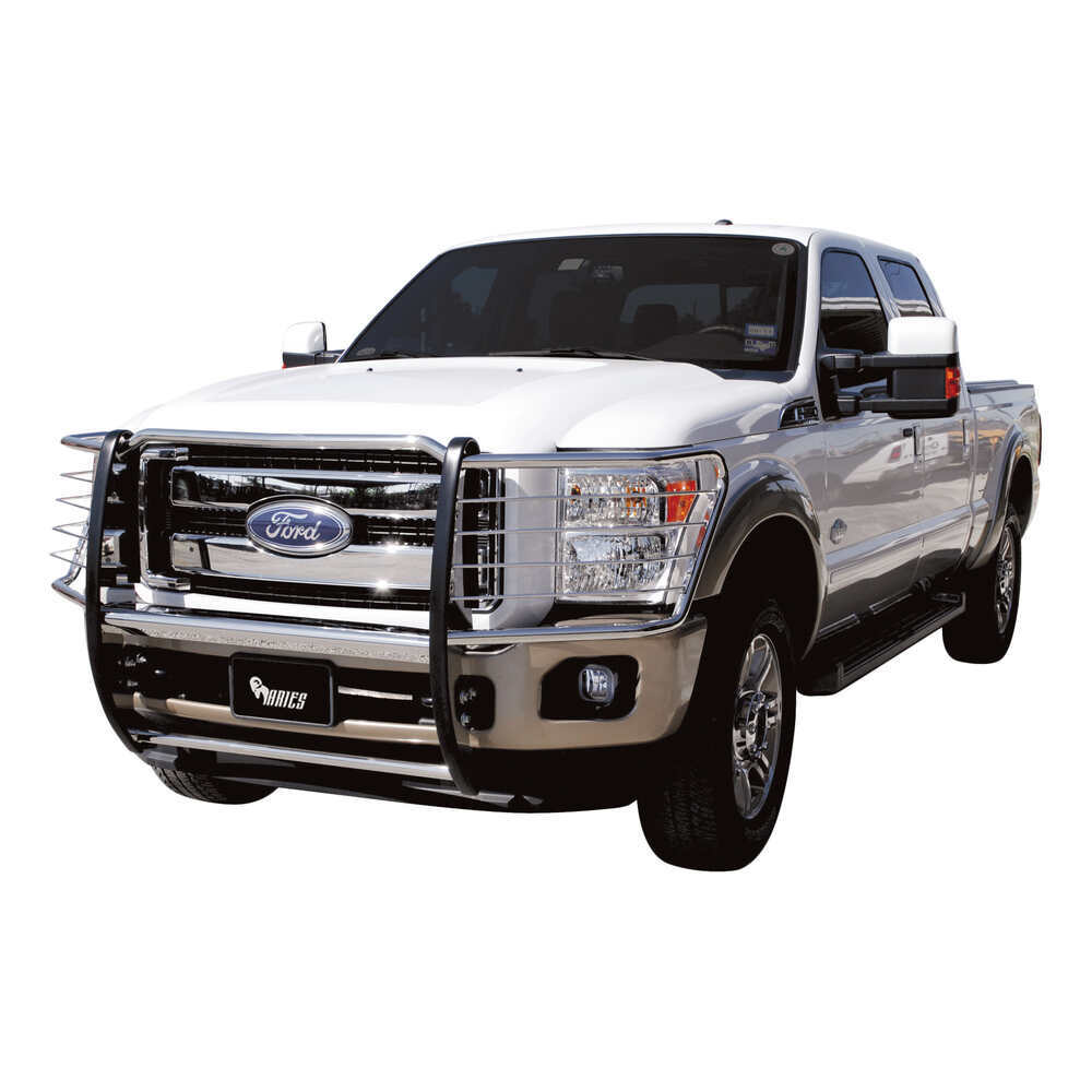 Ford F750 Super Duty >> 2012 Ford F-250 and F-350 Super Duty Aries Grille Guard - 1 Piece - Polished Stainless Steel