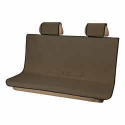 Aries Automotive Seat Defender Bench Seat Protector with Headrest Covers - Universal Fit - Brown