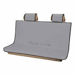 Aries Automotive Seat Defender Bench Seat Protector with Headrest Covers - Universal Fit - Gray