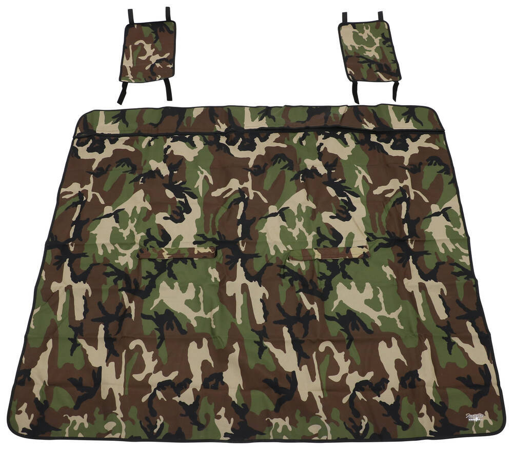 "Aries Automotive Seat Defender Bench Seat Protector - 66"" Wide x 55-1/2"" Tall - Camo Adjustable Headrests AA3147C"