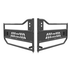 Aries Front Tube Doors for Jeep - Textured Black Powder Coated Aluminum