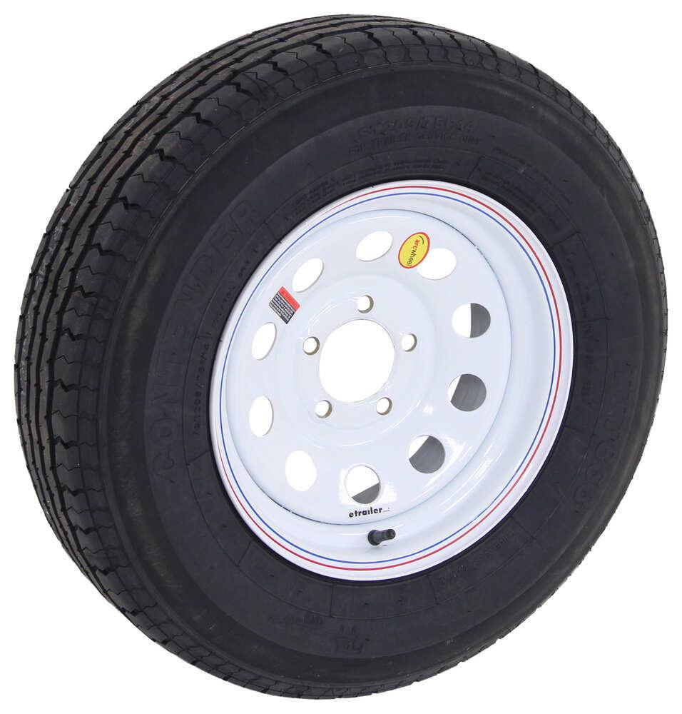 contender st205 75r14 radial trailer tire w 14 white mod wheel 5 on 4 1 2 load range c. Black Bedroom Furniture Sets. Home Design Ideas