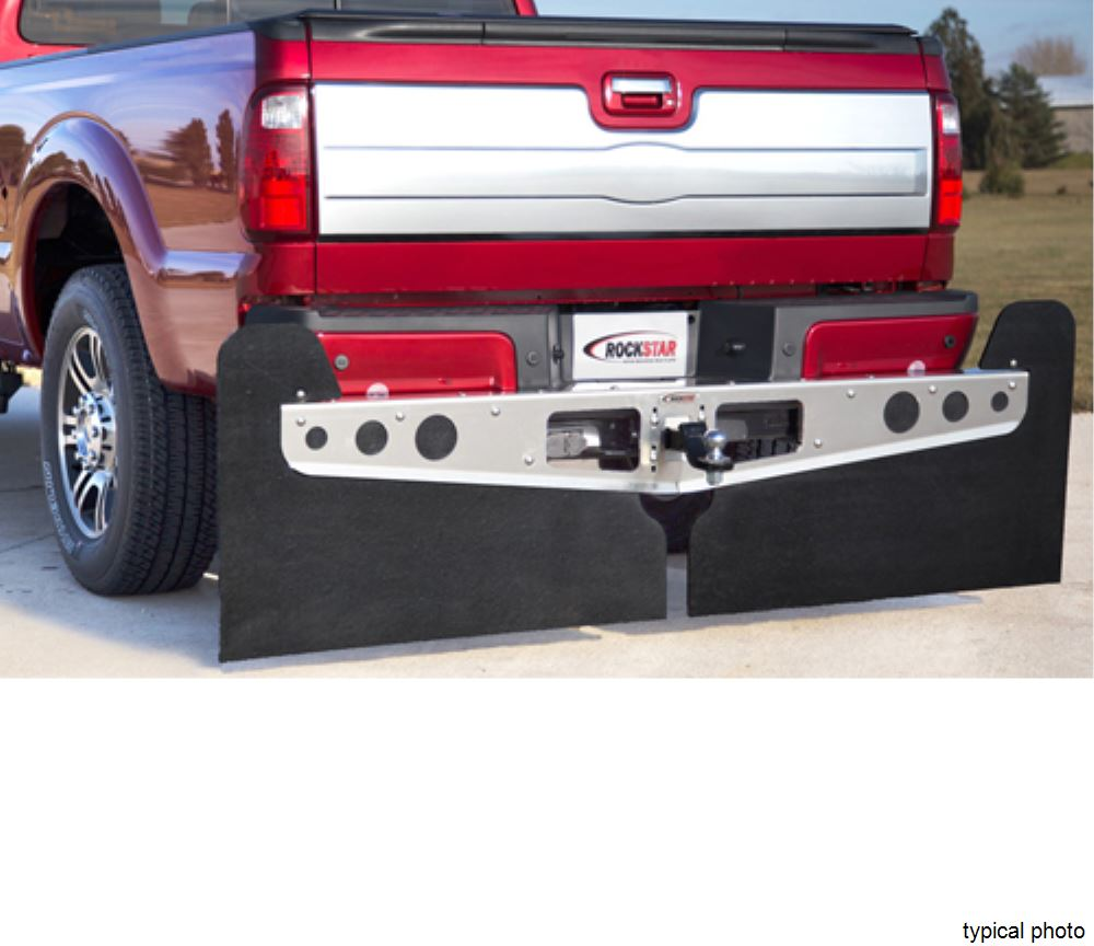 "Access Rockstar 2XL Custom Mud Flaps for Modified Suspensions - 42"" Wide - Diamond Plate Clamps Onto Ball Mount A10100622"