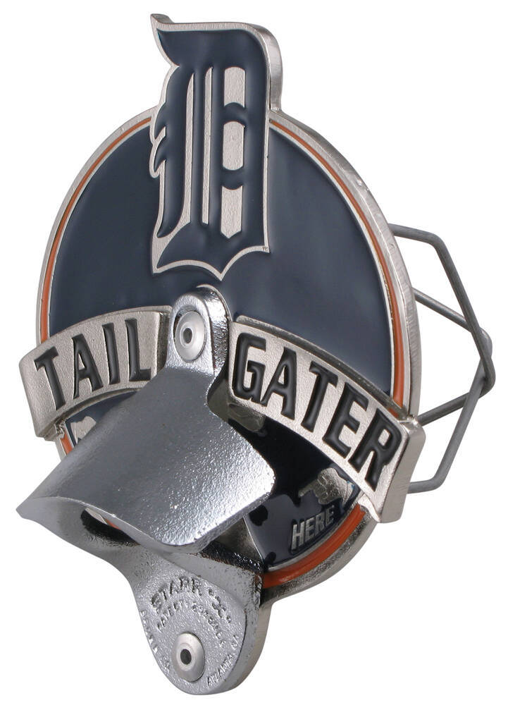 Detroit tigers mlb tailgater hitch receiver cover for 2 for Motor city towing detroit michigan