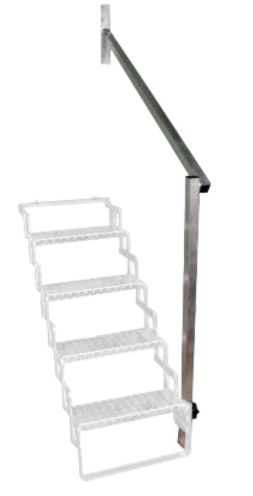 Aluminum Hand Rail For 5 Step Scissor Stair Brophy