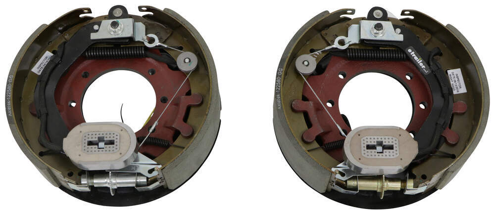 "Electric Trailer Brake Kit w/ Dust Shields - Self-Adjusting - 12-1/4"" - Left/Right Hand - 10K Self Adjust AKEBRK-10"