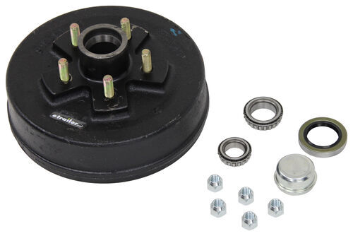 AKHD-545-35-K - 5 on 4-1/2 Inch etrailer Hub with Integrated Drum