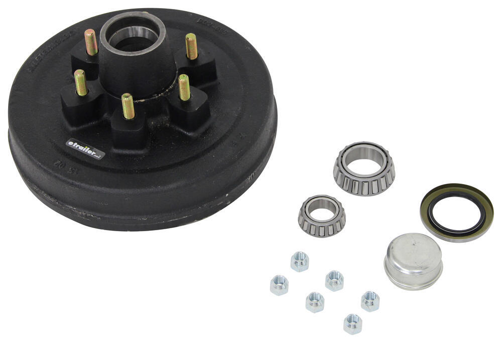 Trailer Hub and Drum Assembly - 5,200-lb and 6,000-lb Axles