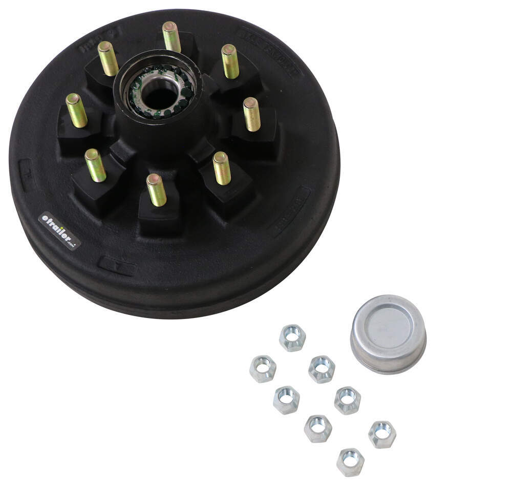 etrailer 9/16 Inch Stud Trailer Hubs and Drums - AKHD-865-7-1-K