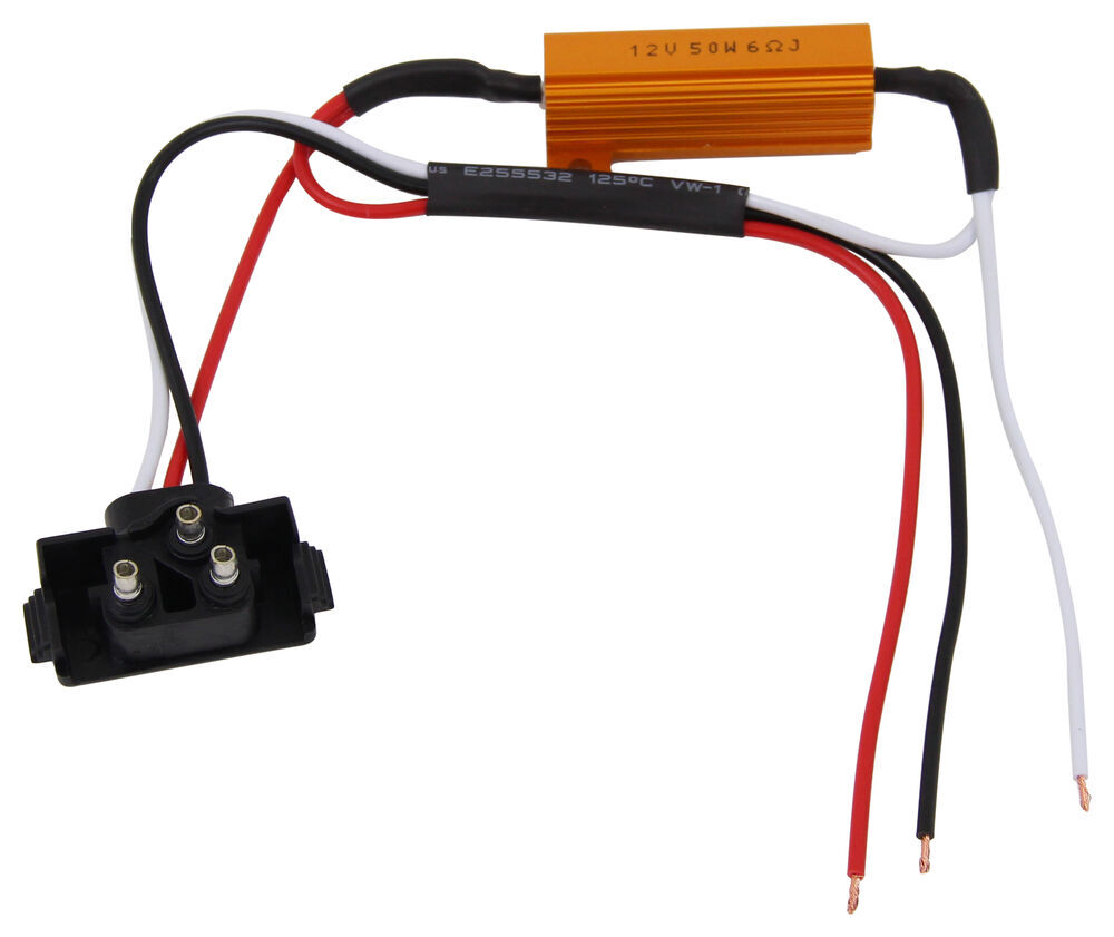 wiring a relay for lights optronics load resistor for led lights - male pl-3 plug ... wiring a resistor for led lights
