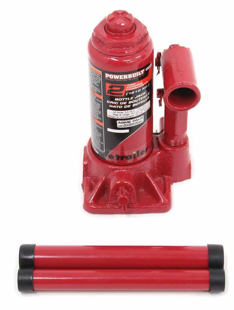 "Powerbuilt Bottle Jack - 6-3/16"" to 12-1/16"" Lift - 4,000 lbs 4000 lbs ALL640405"