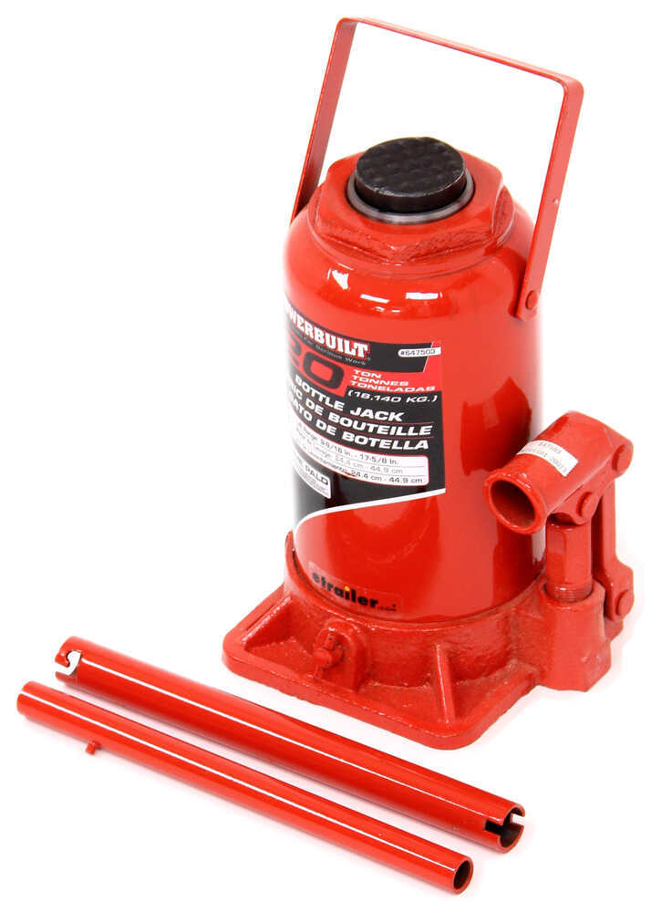 "Powerbuilt Bottle Jack - 9-11/16"" to 17-5/8"" Lift - 40,000 lbs 17-5/8 Inch Lift ALL647503"
