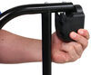 Lend-a-Hand Extra Large Folding Grab Handle for RVs - Black with Black Foam Grip - Aluminum 25-1/2 Inch Long AM-533