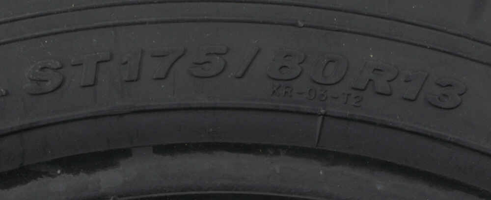 Karrier ST175 80R13 Radial Trailer Tire Load Range D Kenda Tires