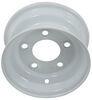 """Steel Trailer Wheel - 8"""" x 3-3/4"""" Rim - 5 on 4-1/2 - White Steel Wheels - Powder Coat AM20006"""