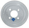 "Steel Trailer Wheel - 8"" x 5-3/8"" Rim - 4 on 4 - White Standard Rust Resistance AM20011"