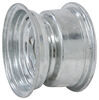 "Steel Solid Center Trailer Wheel w/ Offset - 8"" x 5-3/8"" Rim - 4 on 4 - Galvanized 8 Inch AM20013"