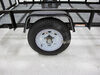 "Dexstar Steel Spoke Trailer Wheel - 15"" x 6"" Rim - 5 on 4-1/2 - White Powder Coat 15 Inch AM20522"