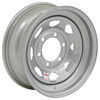 "Dexstar Steel Spoke Trailer Wheel - 15"" x 6"" Rim - 6 on 5-1/2 - Silver Powder Coat"