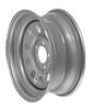 "Dexstar Steel Mini Mod Trailer Wheel - 15"" x 6"" Rim - 5 on 4-1/2 - Silver Powder Coat 15 Inch AM20537"