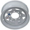 "Dexstar Steel Spoke Trailer Wheel - 16"" x 6"" Rim - 8 on 6-1/2 - White Powder Coat 16 Inch AM20750"