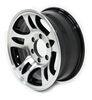 """Aluminum HWT Series S5 Trailer Wheel - 16"""" x 6-1/2"""" Rim - 6 on 5-1/2 - Black 6 on 5-1/2 Inch AM22658HWTB"""
