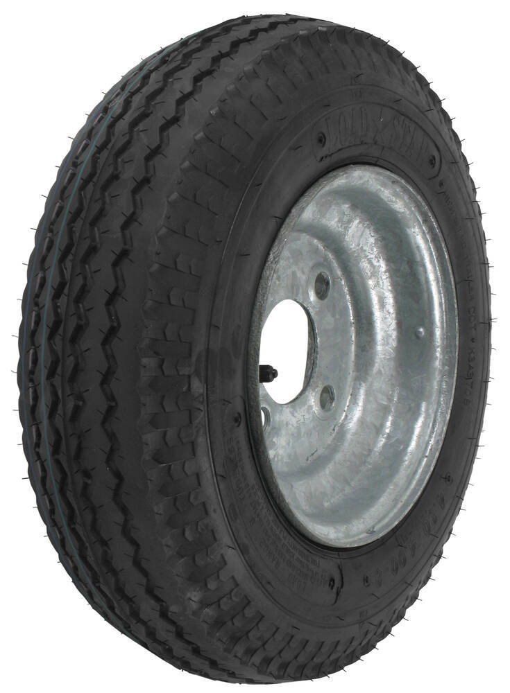 "Kenda 4.80/4.00-8 Bias Trailer Tire with 8"" Galvanized Wheel - 4 on 4 - Load Range B Load Range B AM30010"