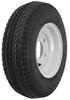 "Kenda 4.80/4.00-8 Bias Trailer Tire with 8"" White Wheel - 5 on 4-1/2 - Load Range C 5 on 4-1/2 Inch AM30060"