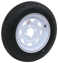 "Kenda 4.80-12 Bias Trailer Tire with 12"" White Wheel - 4 on 4 - Load Range B"