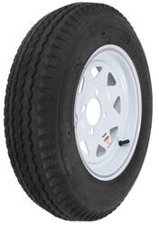 "Kenda 5.30-12 Bias Trailer Tire with 12"" White Wheel - 4 on 4 - Load Range B"