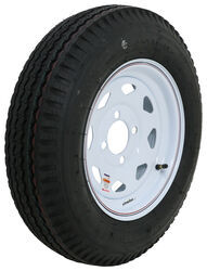 "Kenda 5.30-12 Bias Trailer Tire with 12"" White Wheel - 4 on 4 - Load Range C"