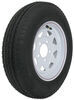 kenda tires and wheels 12 inch 5 on 4-1/2 5.30-12 bias trailer tire with white wheel - load range d
