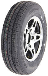 "Kenda ST145R12 Radial Trailer Tire w/12"" Aluminum HWT S5 Black Wheel - 5 on 4-1/2 - LR D"