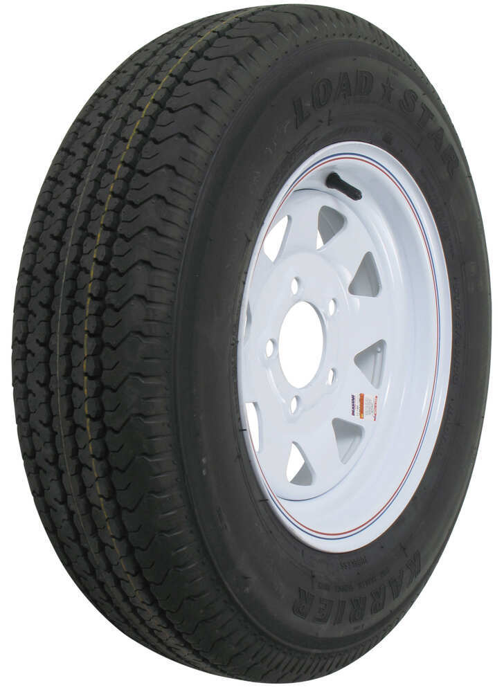 """Karrier ST175/80R13 Radial Trailer Tire with 13"""" White ..."""